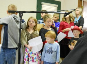The Children Performing the song they learned